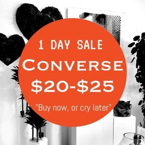 Converse Shoes - 1 Day closet sale! Converse