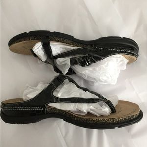 ecco Shoes - ECCO lite black croc strappy sandals sz 41=11