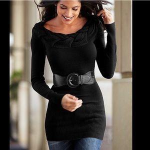 venus Sweaters - ⚡️Black stylish sweater with belt !