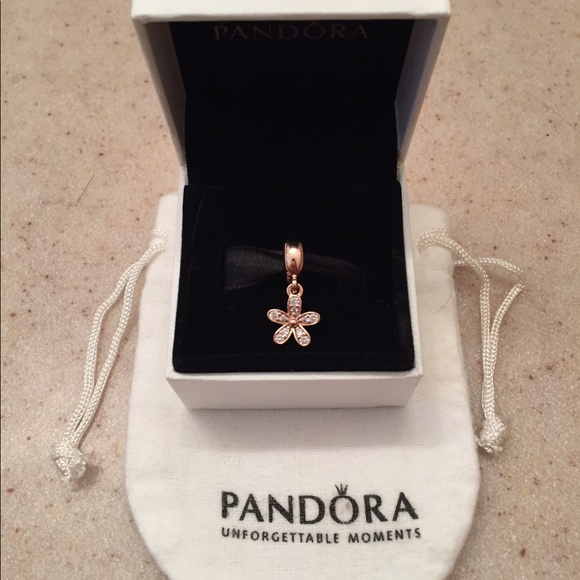 c4ad7c66d Pandora Jewelry | Authentic Rose Charm Dazzling Daisy | Poshmark