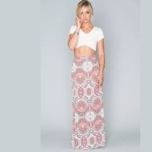Show Me Your MuMu Dresses & Skirts - Mumu Maxi Skirt Side Slit Mini Skirt Lined Slip-on
