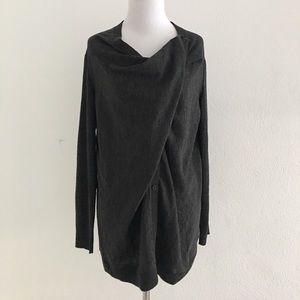Lafayette 148 New York Sweaters - Lafayette 148 New York Charcoal Gray Cardigan sz S