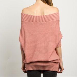 Bellanblue Tops - 🆕JESSLYN off shoulder knit sweater - MAUVE