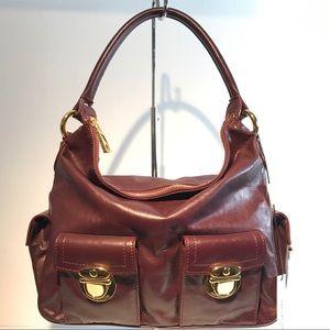 Marc Jacobs Handbags - Marc Jacobs Multipocket Bag Burgundy Leather