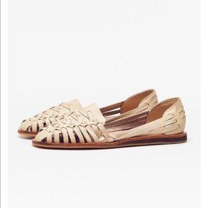 Nisolo Shoes - NISOLO Worn Once Ecuador Huarache in Bone Sandals