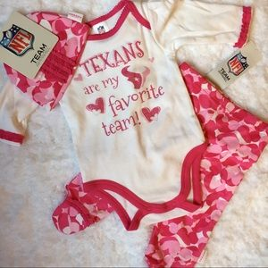 Other - NFL 3 piece Texans outfit