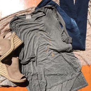 Dantelle Tops - Dantelle grey tunic top