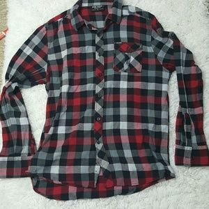 Zoo York Other - Zoo York Red Plaid Button Down Large