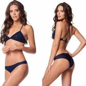 Pilyq Other - 🆕 PilyQ  Sequined Gidget Halter Bikini Top