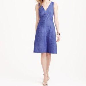 J. Crew Dresses & Skirts - J. Crew Size 12 Blue Chevron Pleated Dress