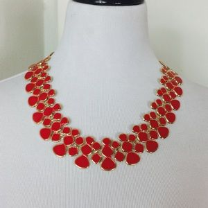 Zara Jewelry - Red with Gold Trim Statement Necklace