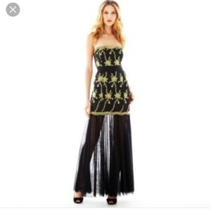 Marchesa Dresses & Skirts - Pearl by Marchesa black and gold gown GORGEOUS!