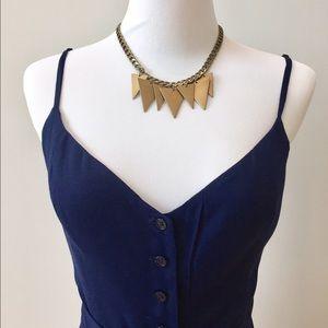 Gorjana Jewelry - Triangle brass necklace