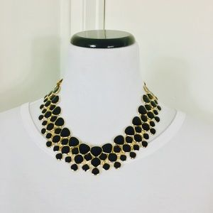 Zara Jewelry - Black & Gold Chunky Statement Necklace