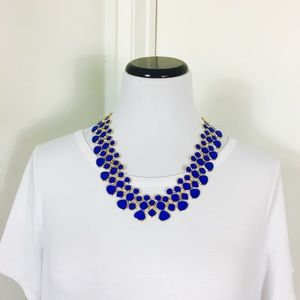 Zara Jewelry - Emerald Blue & Gold Statement Necklace