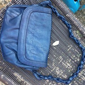 Loewe Handbags - Loewe leather navy blue distressed matte unique