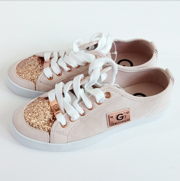 7b3ef665efd G By GUESS Rose Gold Sequin Sneakers