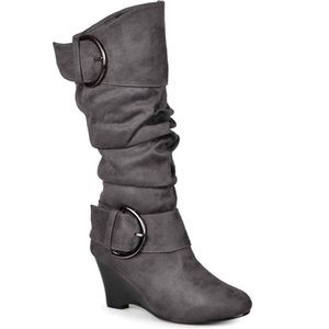 Journee Collection Shoes - Journee Collection Irene Wedge Slouch Boots