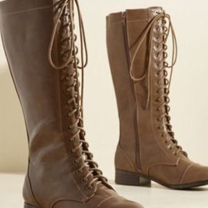 N.Y.L.A. Shoes - NYLA Tan Lace Up Boots