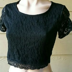 Ambiance Apparel Tops - Ambiance Apparel lacy black top . Size M.