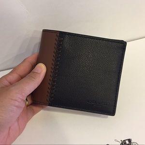 Coach Handbags - 🏝😍Coach Compact ID Baseball Sticth Men's Wallet