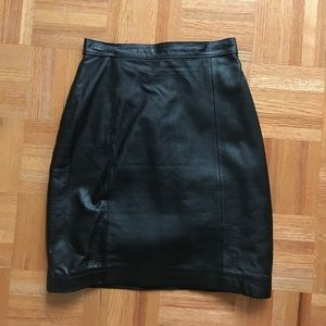 Wilsons Leather Dresses & Skirts - Genuine black leather pencil skirt