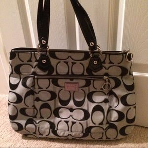 Coach poppy signature large tote