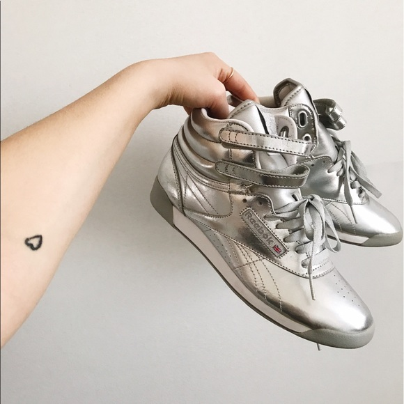 edea0d5ae502 Reebok Freestyle Hi silver metallic