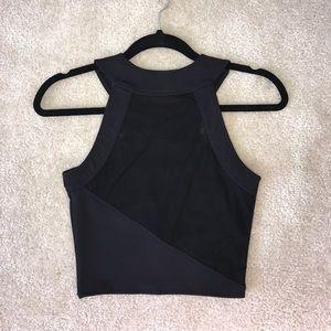 327be0adca7b7 donna mizani Tops - Donna Mizani Racer Front Crop Top in Black. SMALL