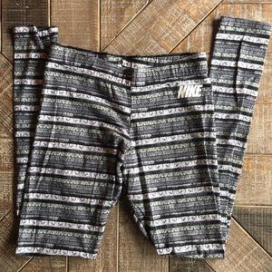 Nike Pants - Striped Nike Full Length Leggings