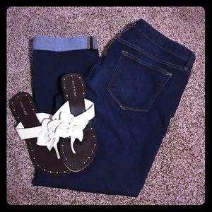 GAP Denim - GAP real straight dark denim jeans