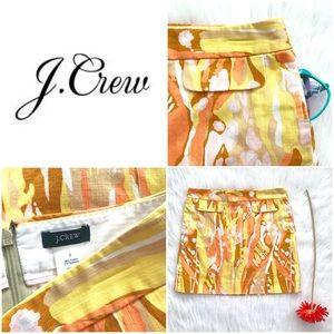 J.Crew Skirt • Yellow & Orange Skirt • Pockets!