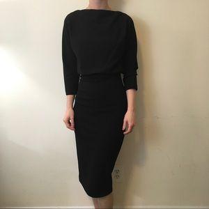 Badgley Mischka Dresses & Skirts - Badgely Mischka Black Sexy High Neck Midi Dress