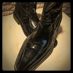 Alberto Guardiani Black Patent Leather Formal Boot