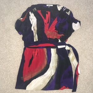 DKNYC Tops - DKNYC Silk Top Flowy Dressy Belted Size 4