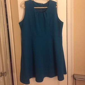 Samya Dresses & Skirts - Samya Peacock Blue Sleeveless Dress! Size 18