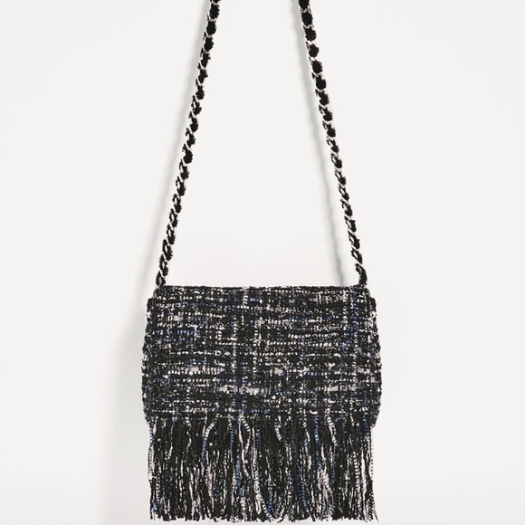 ff3e26b06c29 Zara fringed fabric cross body