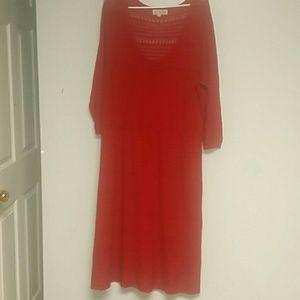 Pink Rose Dresses & Skirts - Plus alert!! Lightweight Sweater Dress 2x