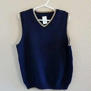 Gymboree Other - Gymboree NWT Navy Blue & Khaki Sweater Vest sz S