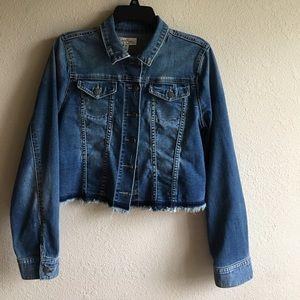 Jessica Simpson Jackets & Blazers - Jessica Simpson maternity Denim Crop jacket size M