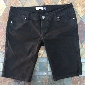 Anchor Blue Pants - Anchor Blue | Black Denim Bermuda Shorts