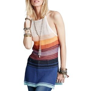 Free People Tops - FREE PEOPLE GOSSAMER STRIPE KNIT LONG TANK TOP