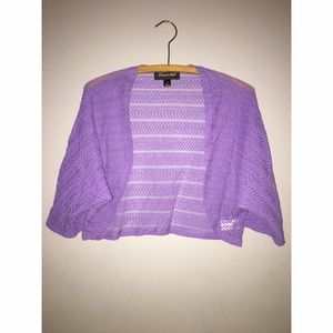 Tops - Lilac Lace Shrug Sz 18