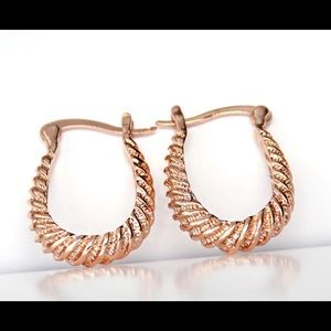 Madewell Jewelry - etched hoops gold filled gold, rose, white gold