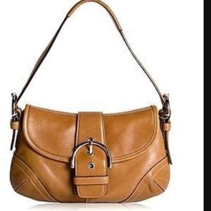 Coach Handbags - Coach Soho Tan Leather Small Flap Hobo #F123000