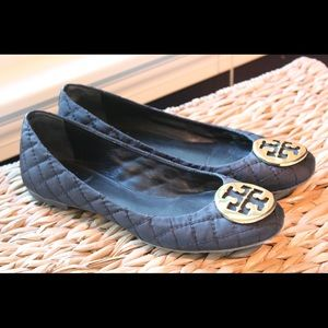 "Tory Burch Shoes - Tory Burch Quilted Black Flats ""Quinn"""