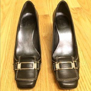Cole Haan Shoes - Cole Haan 1 inch black buckle leather heels
