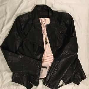 Blank NYC Jackets & Blazers - Faux Leather Moto Jacket