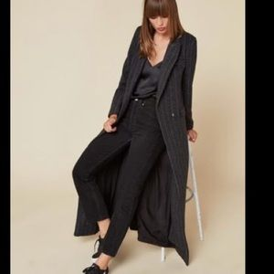 Reformation Jackets & Blazers - REFORMATION DENISON COAT GRAY PINSTRIPE REMPEL NWT