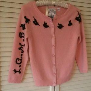 L.A.M.B. Sweaters - L.A.M.B. pink Cashmere ballerina cardigan sweater